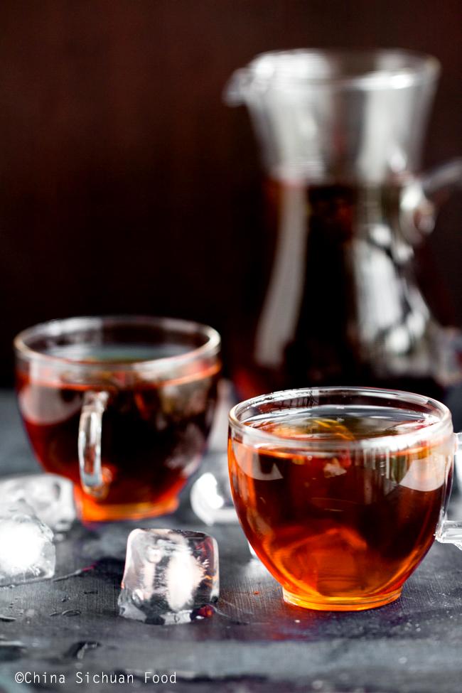 iced pu-erh tea
