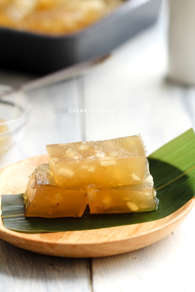 Water Chestnut Cake China Sichuan Food
