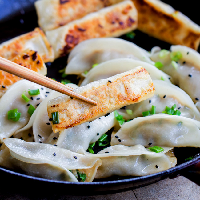 How to Make Potstickers - a step-by-step tutorial and video on how