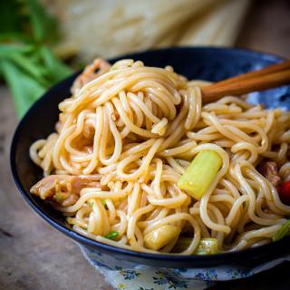 Rice Stick Noodles Stir Fry