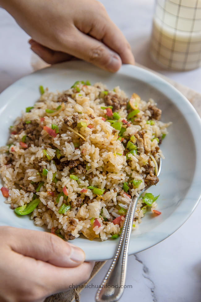 Beef fried rice|chinasichuanfood.com