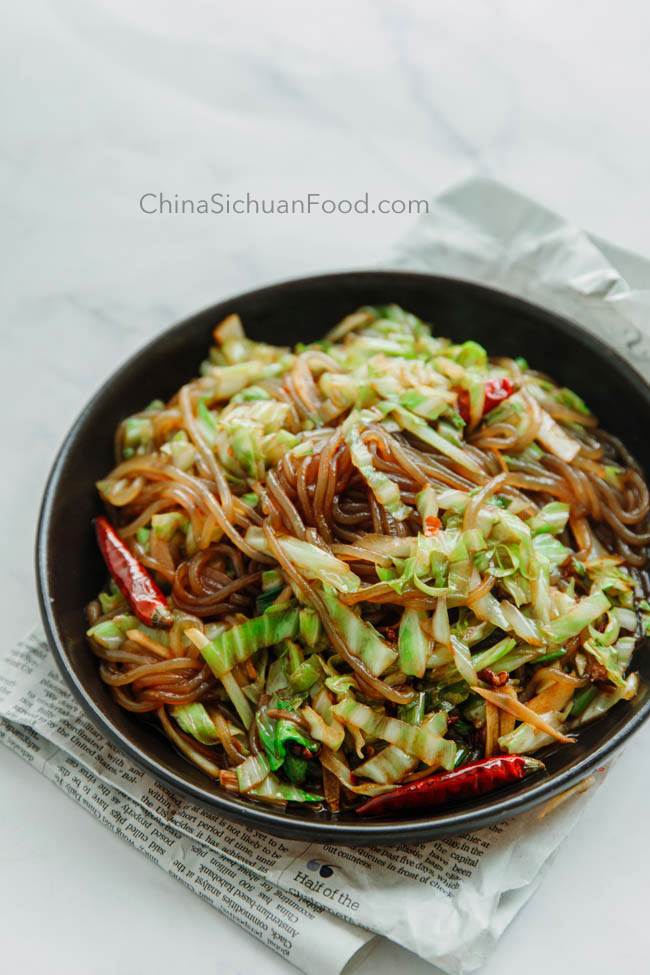 This image has an empty alt attribute; its file name is shredded-cabbage-with-noodles.jpg