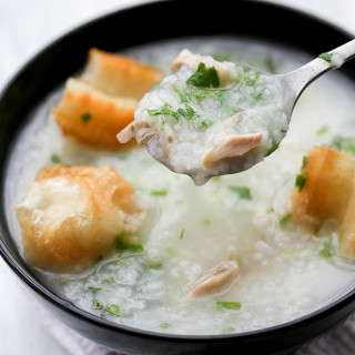chicken congee, healthy and warm breakfast