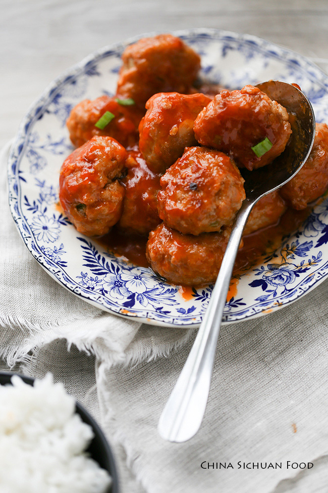 Chinese sweet and sour meatballs