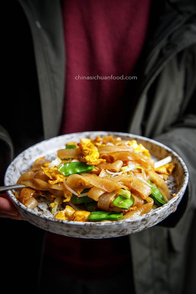 vegetarian chow fun |chinasichuanfood.com
