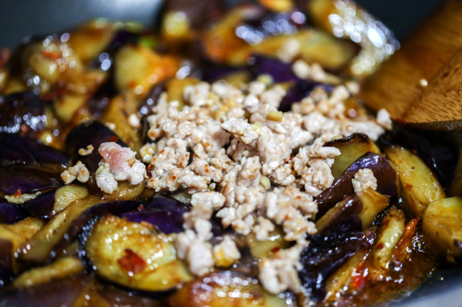 Chinese eggplants with ground pork-8 copy