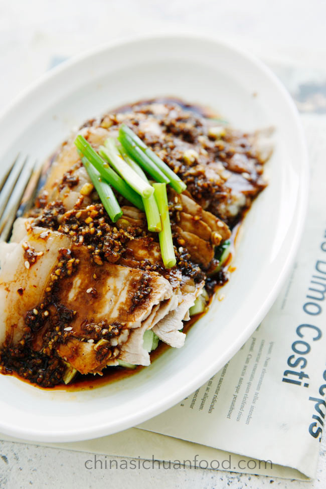 Sichuan pork slices in garlic sauce|chinasichuanfood.com