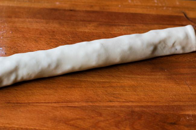 Steamed scallion buns steps