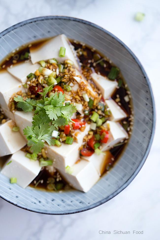 Chinese cold tofu salad