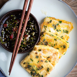 pan-fired tofu with chives