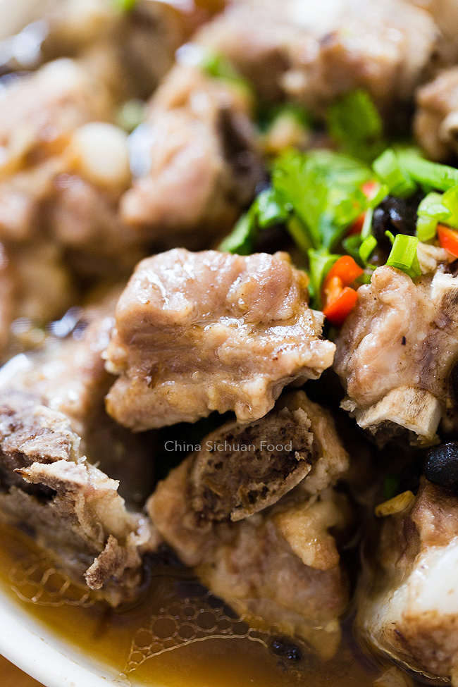 steamed ribs with fermented black beans