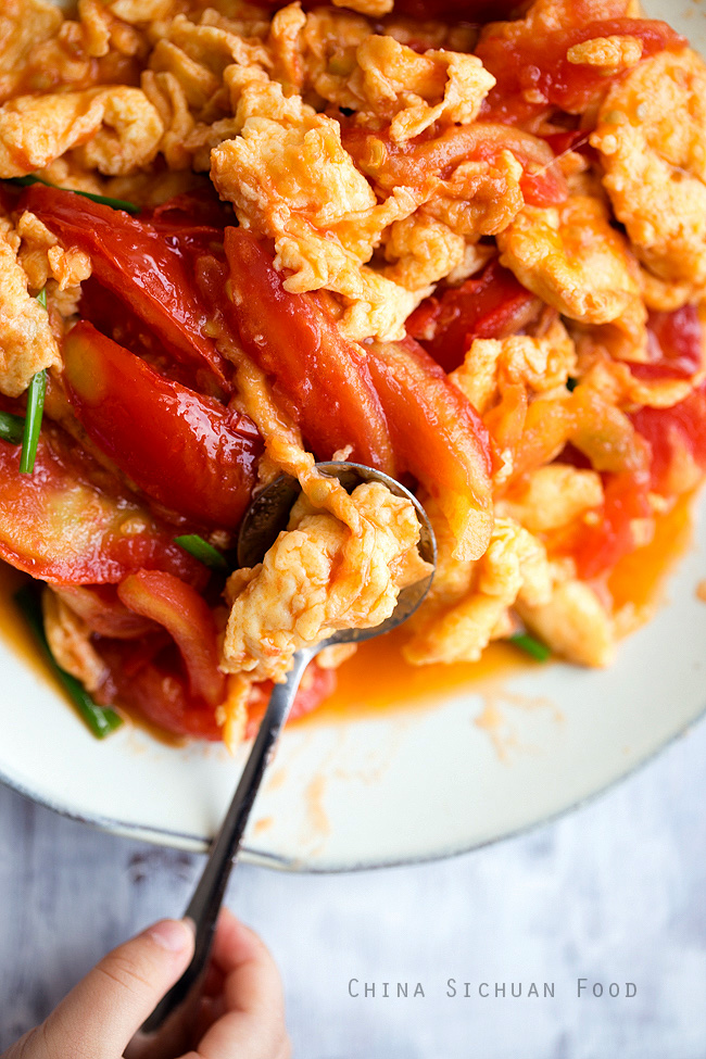 Chinese tomato and egg stir fry