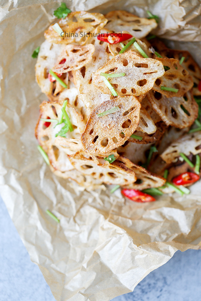 fried lotus root chips
