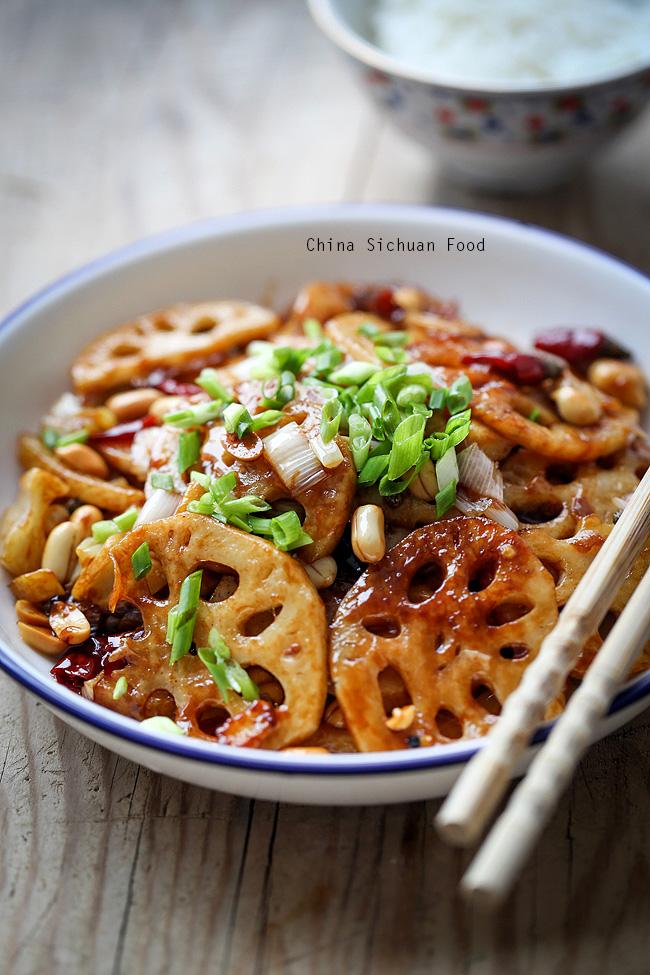 Kung Pao Lotus Root China Sichuan Food
