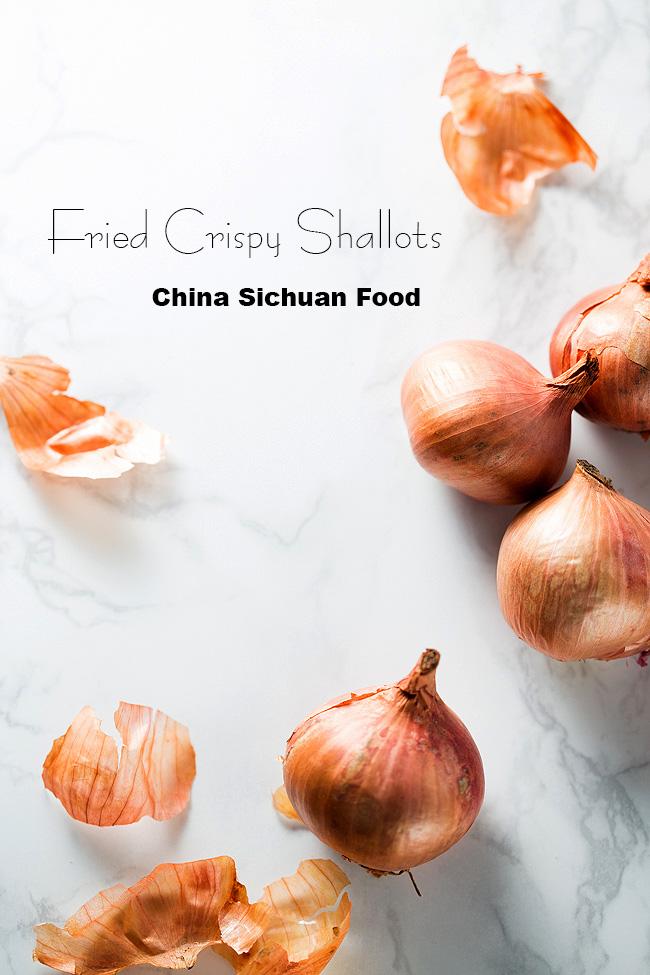 fried crispy shallots China Sichuan Food