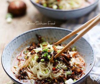 Vegan Dan Dan Noodles China Sichuan Food