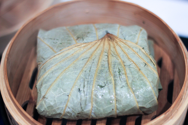 Lo Mai Gai (Steamed Sticky Rice in Lotus Leaf)