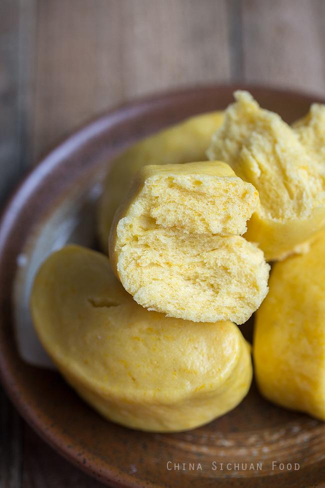 Steamed pumpkin buns |chinasichuanfood.com