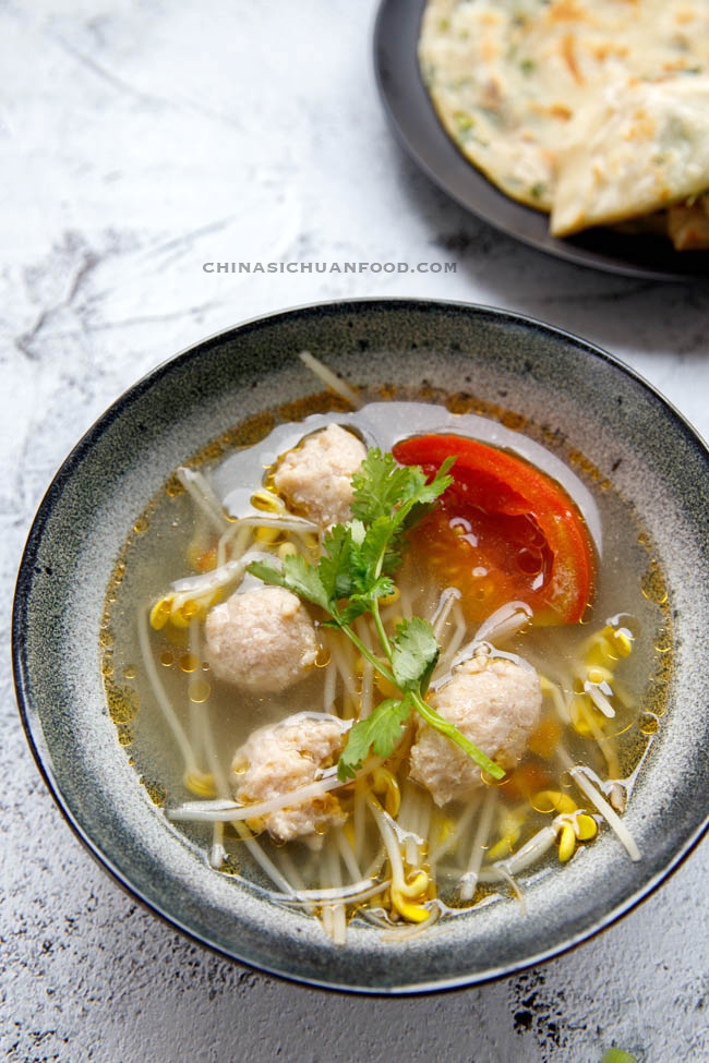 bean sprouts soup | chinasichuanfood.com