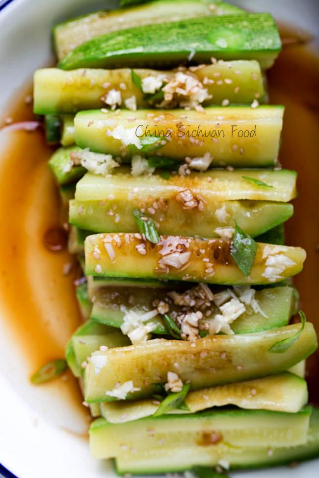5 minutes Zucchini salad | chinasichuanfood.com
