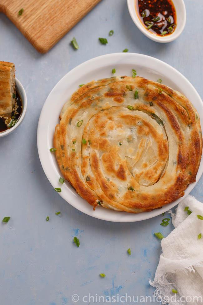 Scallion pancake | chinasichuanfood.com