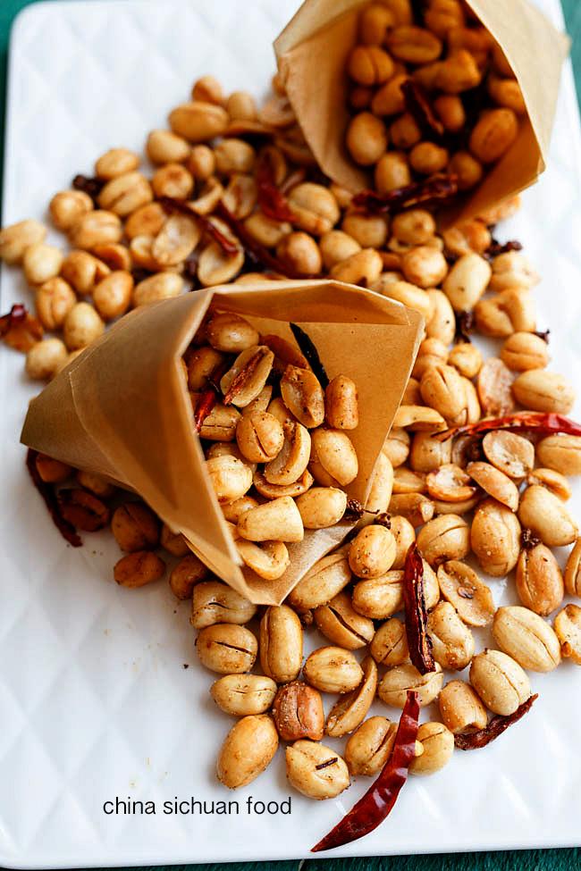 spicy peanuts, mala peanuts |chinasichuanfood