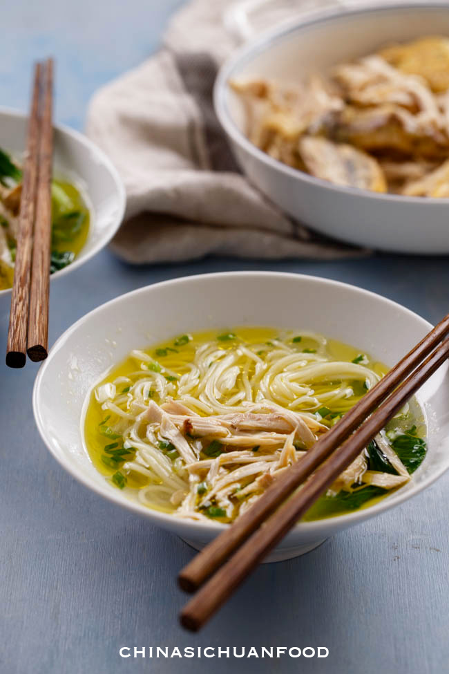 Chinese chicken noodle soup  chinasichuanfood.com