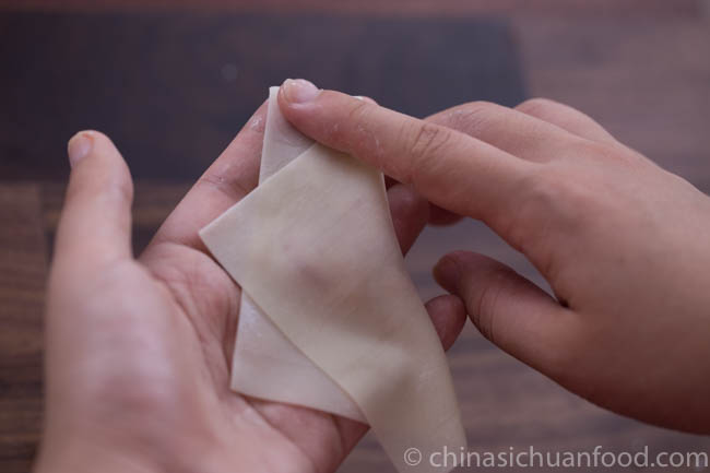 how to wrap wontons | chinasichuanfood.com