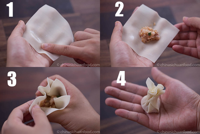 how to wrap wonton method4
