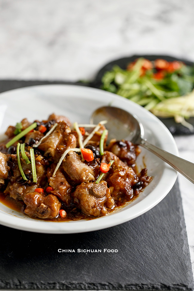 steamed ribs with fermented black beans| chinasichuanfood.com