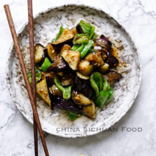 Eggplant with garlic sauce| chinasichuanfood.com