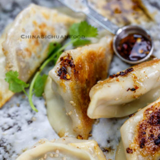 Chinese beef dumplings with celery