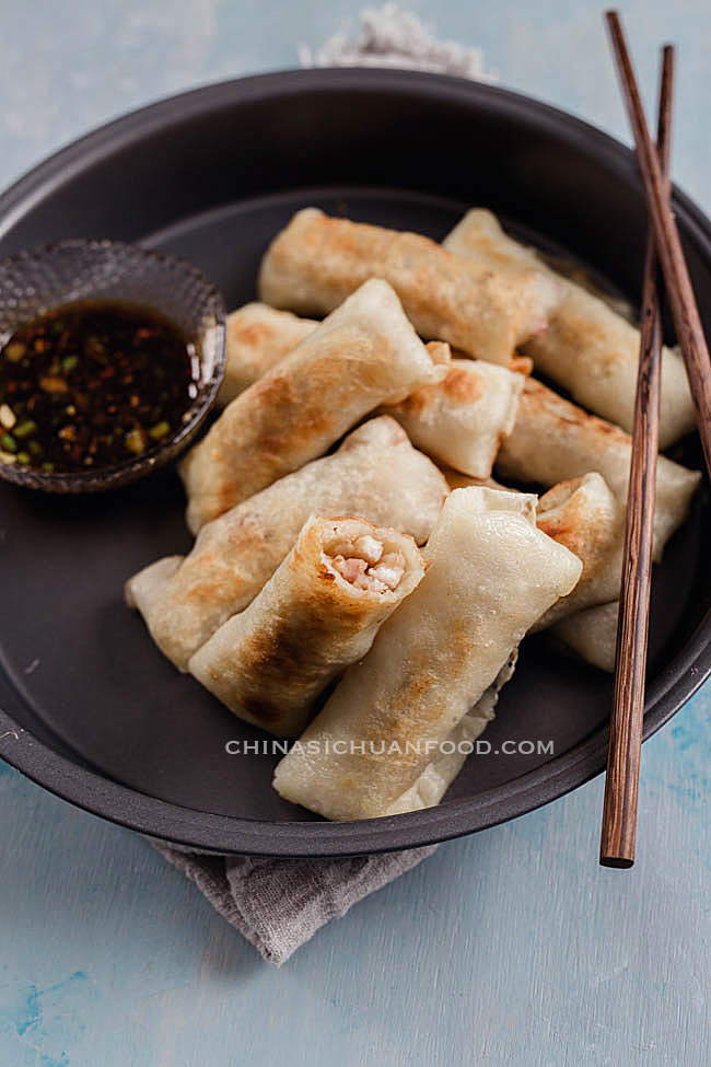 Vegan Spring Rolls with Shredded Taro
