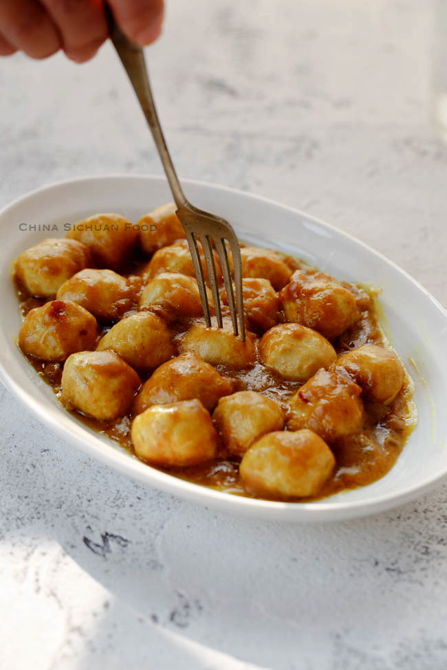 Curry fish balls china sichuan food for Chinese fish balls