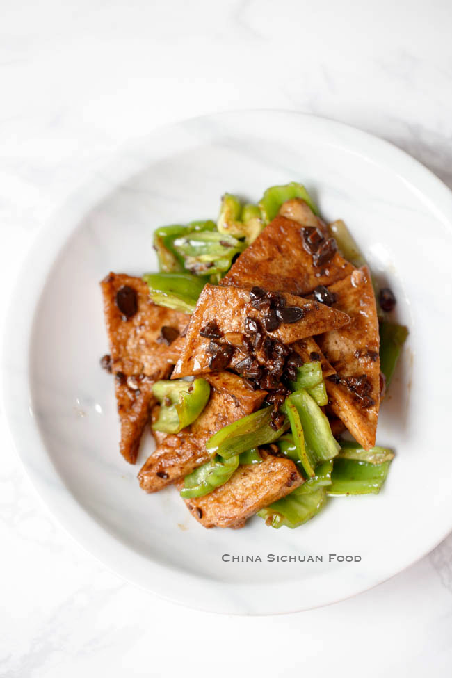 crisp tofu with black bean sauce