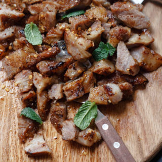 Spicy pan-fried pork|chinasichuanfood.com