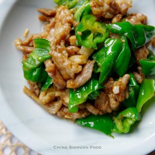 pork and pepper stir fry|chinasichuanfood.com