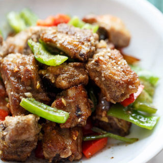 pan-fried crispy ribs| chinasichuanfood.com