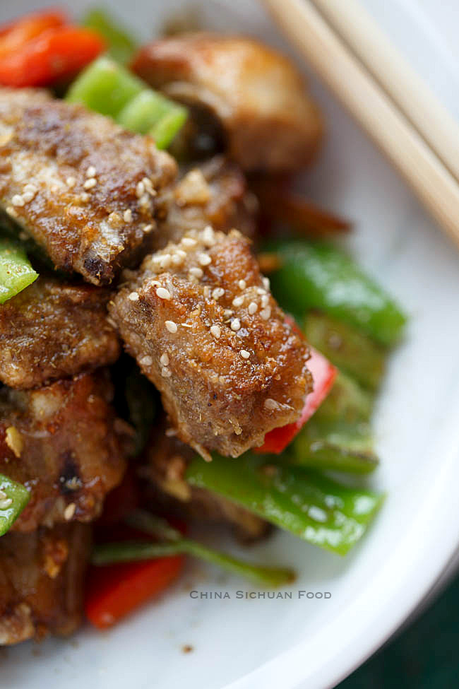 pan-fried crispy ribs
