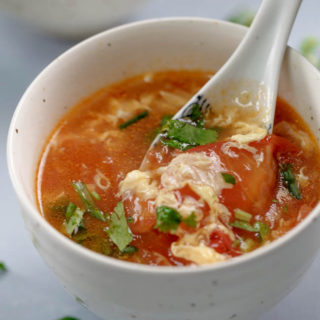 Tomato Egg Drop Soup-The Best Ever