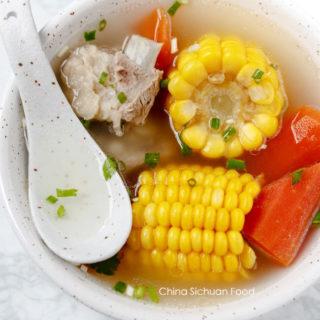 rib and corn soup| chinasichuanfood.com