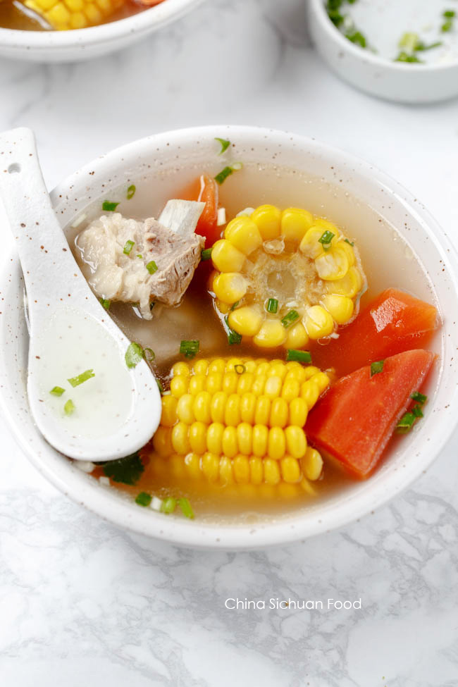 rib and corn soup| chinasichuanfood.com