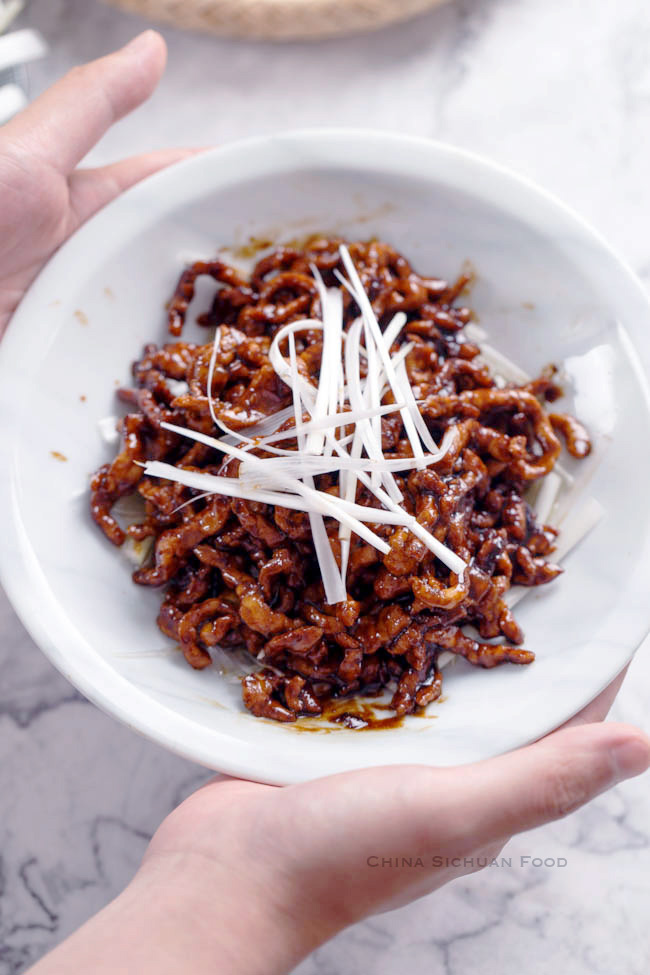 Peking style shredded pork stir fry