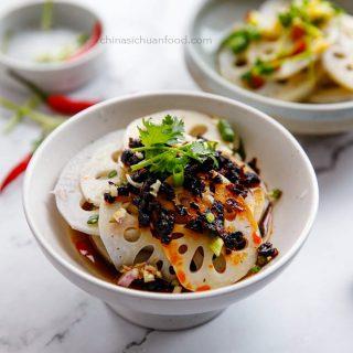 Lotus root salad|chinasichuanfood.com