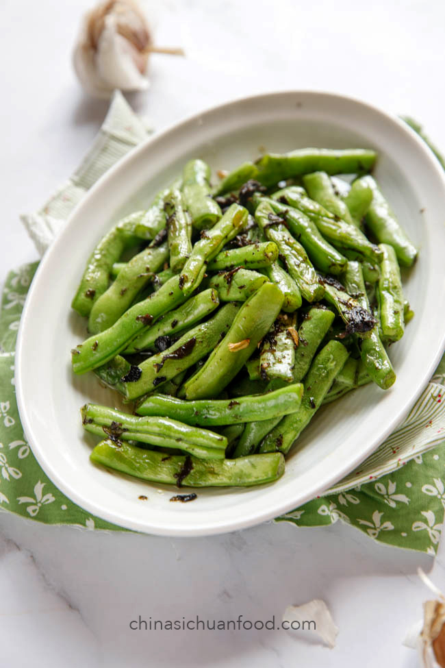 Beans with oilve vegetable|chinasichuanfood.com