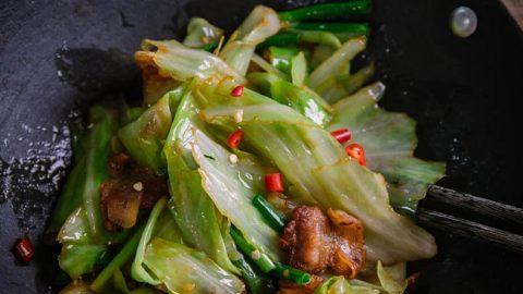 Pork and Cabbage Stir Fry | China Sichuan Food