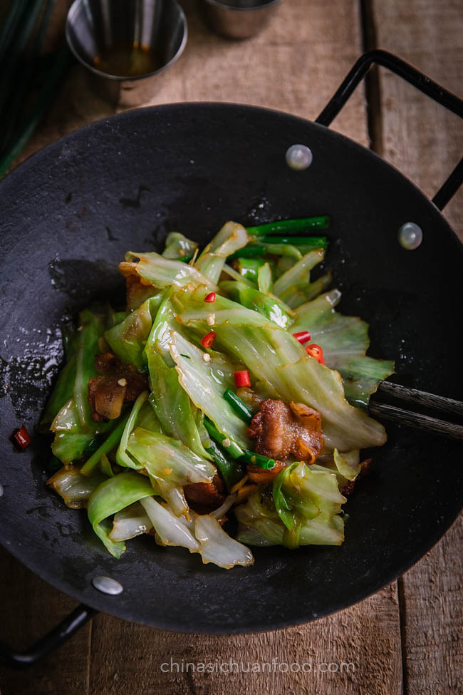 Pork And Cabbage Stir Fry China Sichuan Food