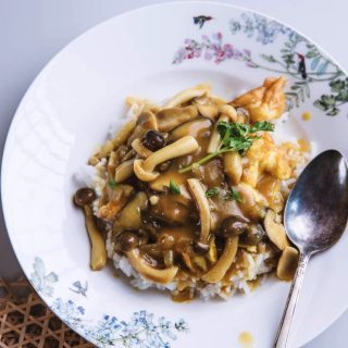 mushroom curry over rice |chinasichuanfood.com