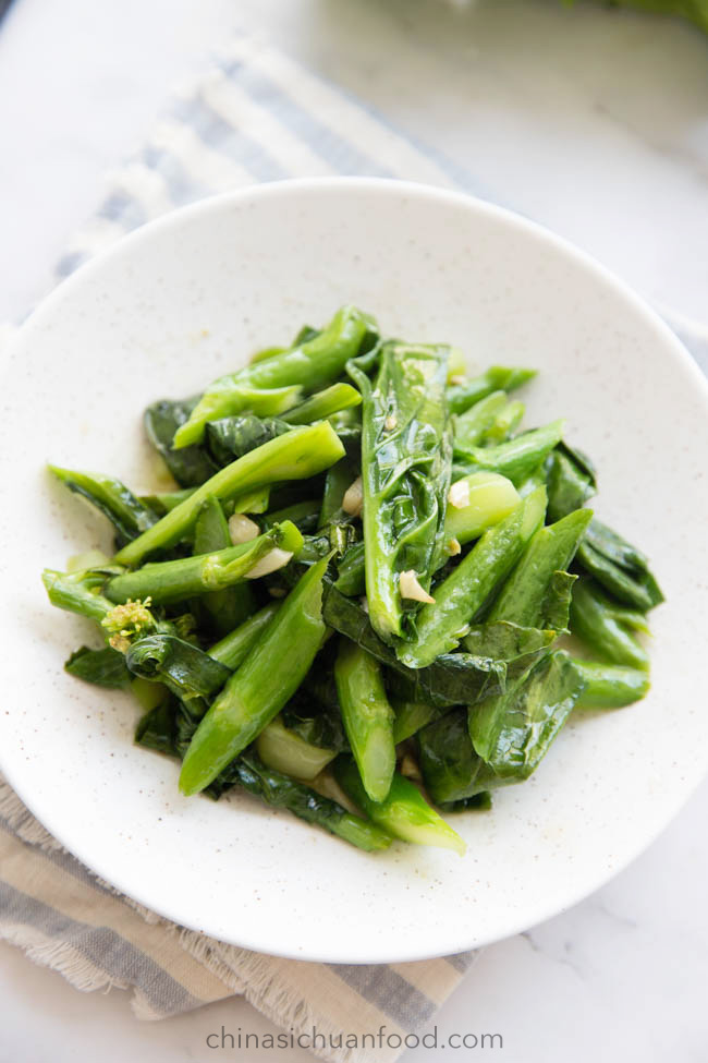 Chinese broccoli with garlic