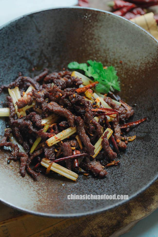 Szechuan dry-fried beef|chinasichuanfood.com
